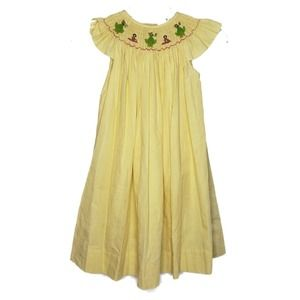 Aunt Polly yellow smocked dress